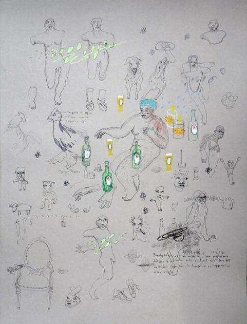 Etude anatomique approximative n°1 . 65x50cm . 2016