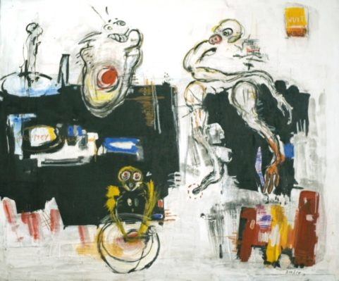Croyances animistes . 2010 . mixed media on canvas 150x180cm