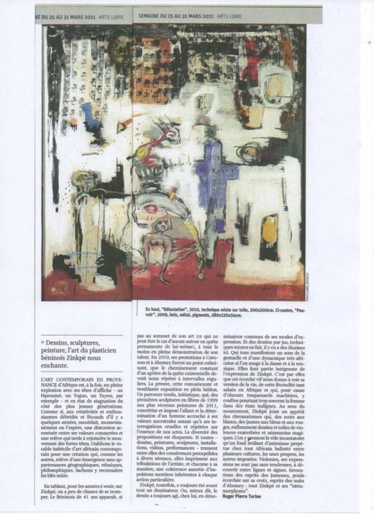 Arts Libre Mars . 2011 . Zinkpè – Page 3