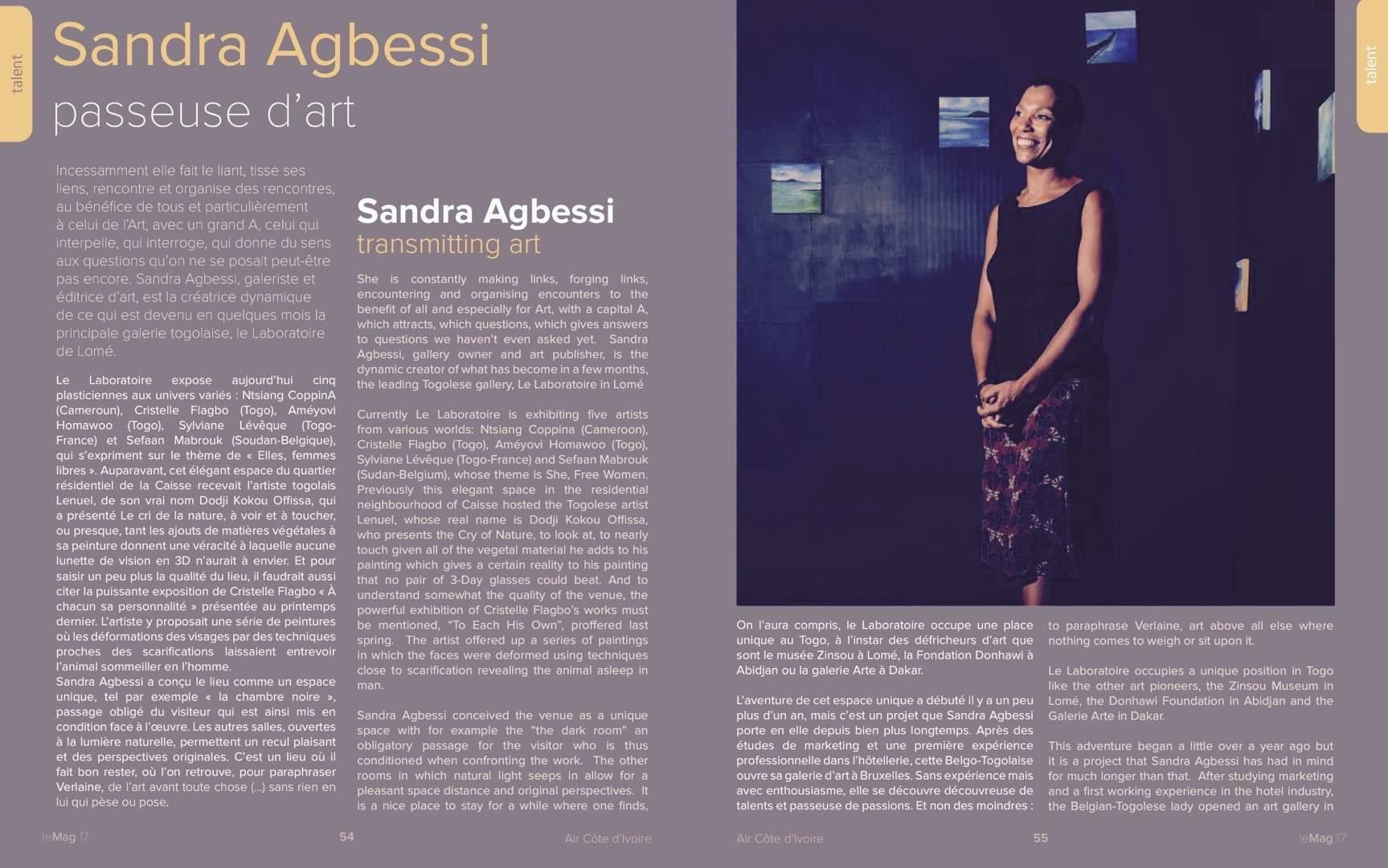 Le Mag . Sandra Agbessi . Decembre 2015 – Page 1