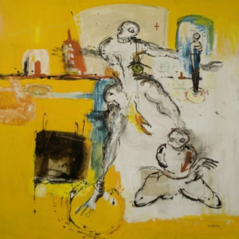 Passade . 2010 . mixed media on canvas 150x150cm